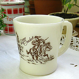 Fire King - Davy Crockett Mug