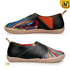 cwmalls - CWMALLS Hand Painted Slip On Shoes CW700118