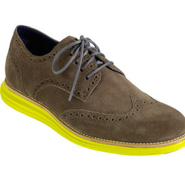 cole haan lunargrand wingtip shoes fall 2012 - grey/yellow