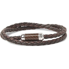 TATEOSSIAN - Monte Carlo Braided Leather and Sterling Silver Bracelet