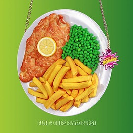 RommydeBommy - FISH & CHIPS PLATE PURSE