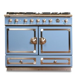 La Cornue - CornuFé Stove, Provence Blue with Chrome
