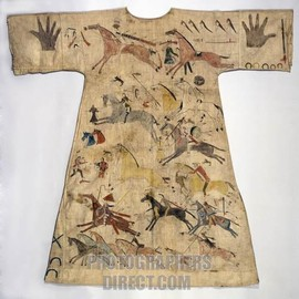 Sioux Indian muslin dress late 18th century