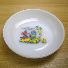 Fire King - kiddie meal time bowl