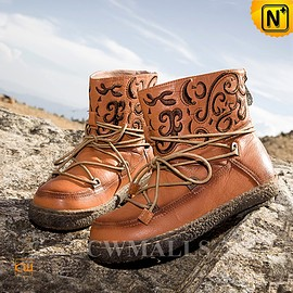 Cwmalls - Boston Womens Leather Snow Boots CW305563