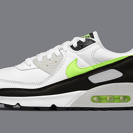 NIKE - Air Max 90 - White/Hot Lime/Black/Neutral Grey