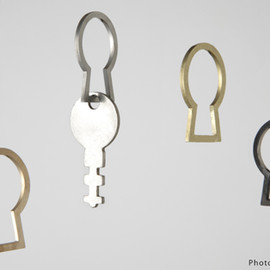 microworks - Keyhole! key ring