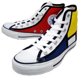 Converse, Piet Mondrian - ALL STAR MODANIT HI(Navy×Red×Yellow×White)