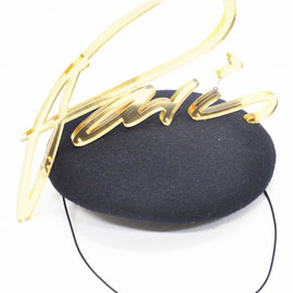 Piers Atkinson - Navy Beret with Perspex Trim