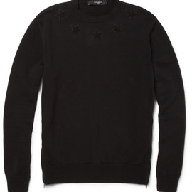 GIVENCHY - Appliquéd Knitted Cotton Sweater