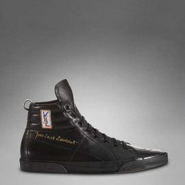Yves Saint Laurent - YSL Classic High-top Sneaker in Black Leather