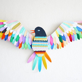 Lydia Kasumi Shirreff - Bird // Wall mounted paper artwork