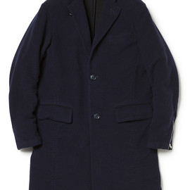 nonnative - OFFICER COAT C/W DOUBLE FACE SATIN