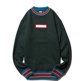 have a good time - COLOR RIB CREWNECK DARK GREEN