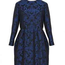 Stella McCartney - Blue and Black Jacquard Dress