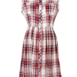 Diesel - checked buttoned dress