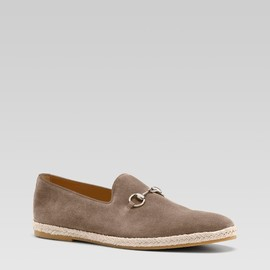 GUCCI - Moccasin with Horsebit (Pale Khaki Suede)