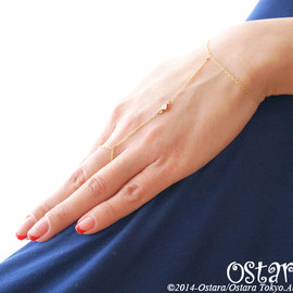 Ostara - 14kgf Wire Nail Ring,Midi Ring with Swarovski/14kgf Wire Glitter Ring with Swarovski