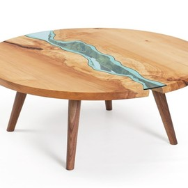 Greg Klassen Furniture Maker - round river coffee table