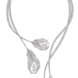 CHANEL - Plume diamond necklace