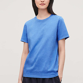 Cos - cotton jersey t-shirt in blue