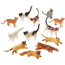US Toy - Mini Cat Figurines Assorted