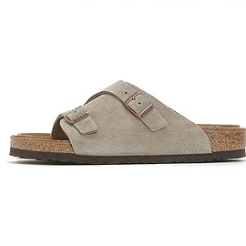 BIRKENSTOCK - Zurich Suede Leather-Taupe