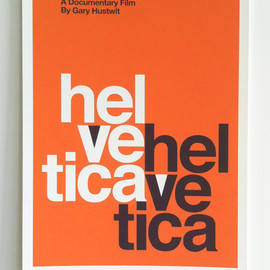 "Gary Hustwit - Helvetica ""Mad Men"" screenprint"