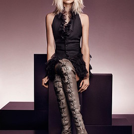 JIMMY CHOO - JIMMY CHOO Maloy 95 Taupe Grey Leather Over-the-Knee Boots