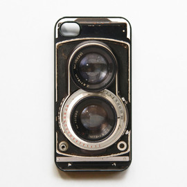 Luulla - iPhone 4 Case Retro Twin Reflex Camera - Black Cases for iphone 4