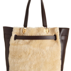 Christian Louboutin - Shearling Large Sybil Shopper