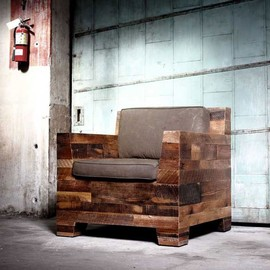 Reclaimed Wood Club Chair by District Millworks