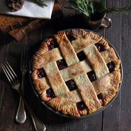 Cranberry Pie with Rosemary Crust