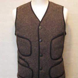 SUGAR CANE - BEACH CLOTH VEST SC12372 BLACK