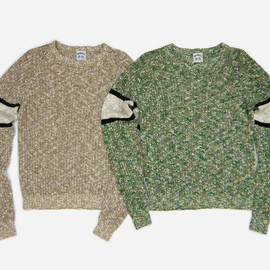 SUNSEA - Mix sweater NATURAL MIX,GREEN MIX