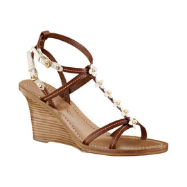 LOUIS VUITTON - Monogram flower embellished sandals
