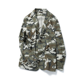 SOPHNET. - CAMOUFLAGE JERSEY 2 BUTTON UNCON JACKET