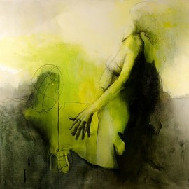 Virginie Bocaert - The Sense of Stability, Mixed Media on Canvas
