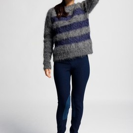 Reale - boyfriend fit striped mohair mix sweater