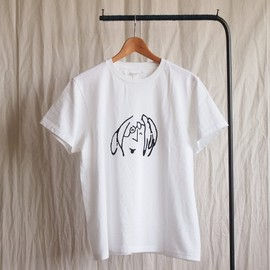 YAECA - Print Tee Laugh #white