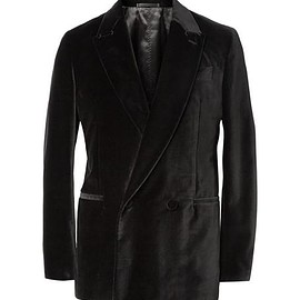 Berluti - Black Unstructured Double-Breasted Velvet Blazer