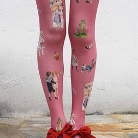 Eine Lilie - Zombie enfants collants - rose