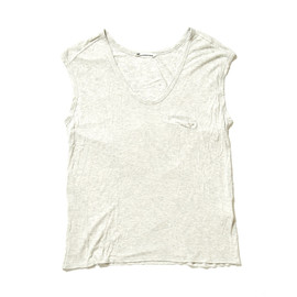 T by ALEXANDER WANG - Rayon Pocket No Sleeve Tshirt