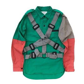 PEEL&LIFT - multiple color parachute shirt / main body:green