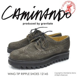 caminando - WING TIP RIPPLE SHOES
