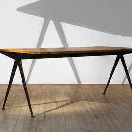 Jean Prouve - Compass Dining Table, Oak top, 1953