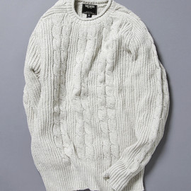 TODD SNYDER - ROLLNECK CABLE KNIT