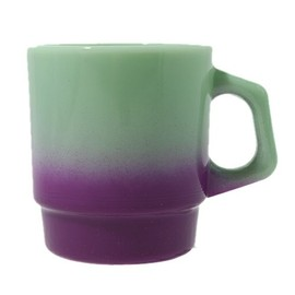 Fire King × BEAMS (bpr BEAMS) - Jade-ite Stacking Mug (Purple Gradation)