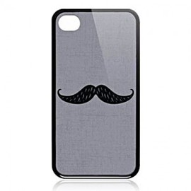 hallomall - Busted Tees iPhone4/4S Art Case-Mustache