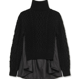sacai - Cable Turtleneck Knit